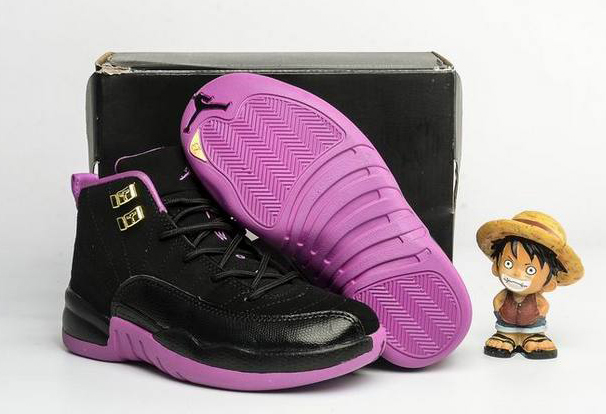 Kids Air Jordan 12 Retro Hyper Violet 2016 Shoes