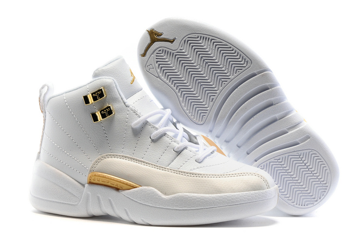 Kids Air Jordan 12 Retro OVO White 2016 Shoes