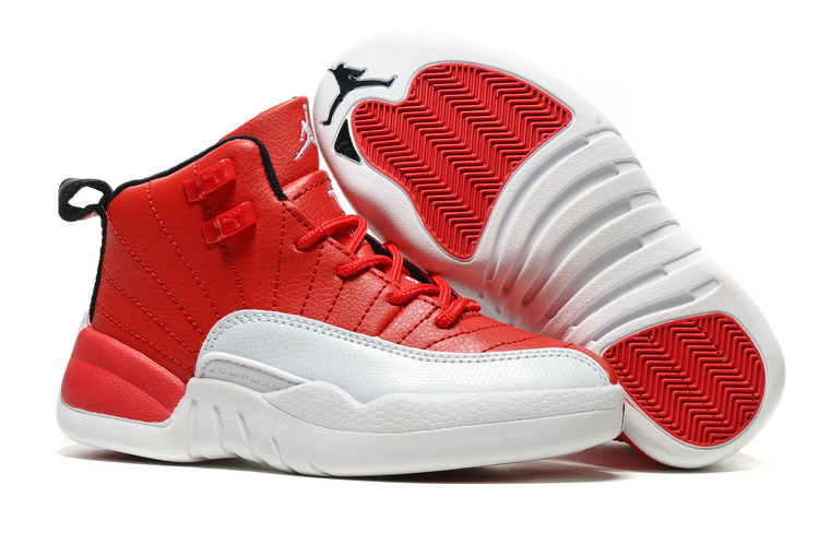 Kids Jordan 12 Retro Gym Red Shoes