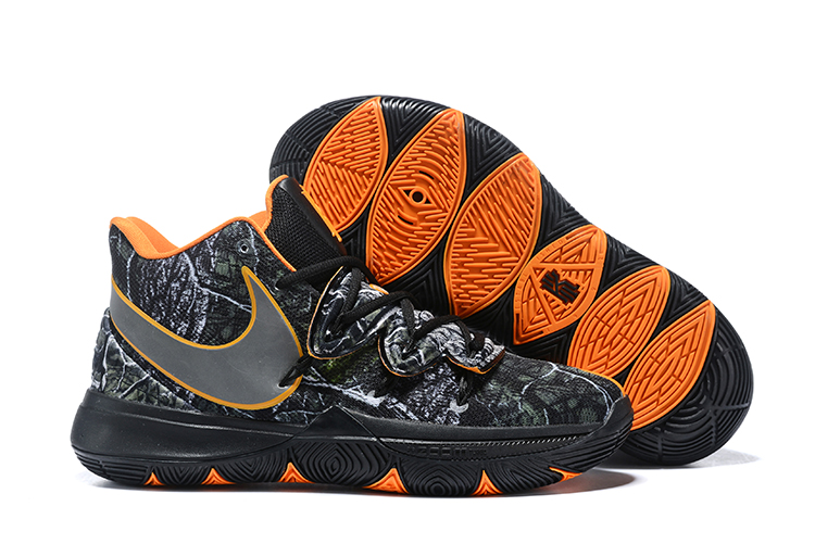 Kids Nike Kyrie 5 Black Orange Joint Shoes