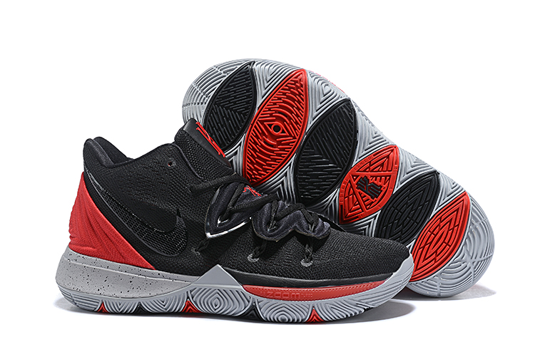 Kids Nike Kyrie 5 Black Red Shoes