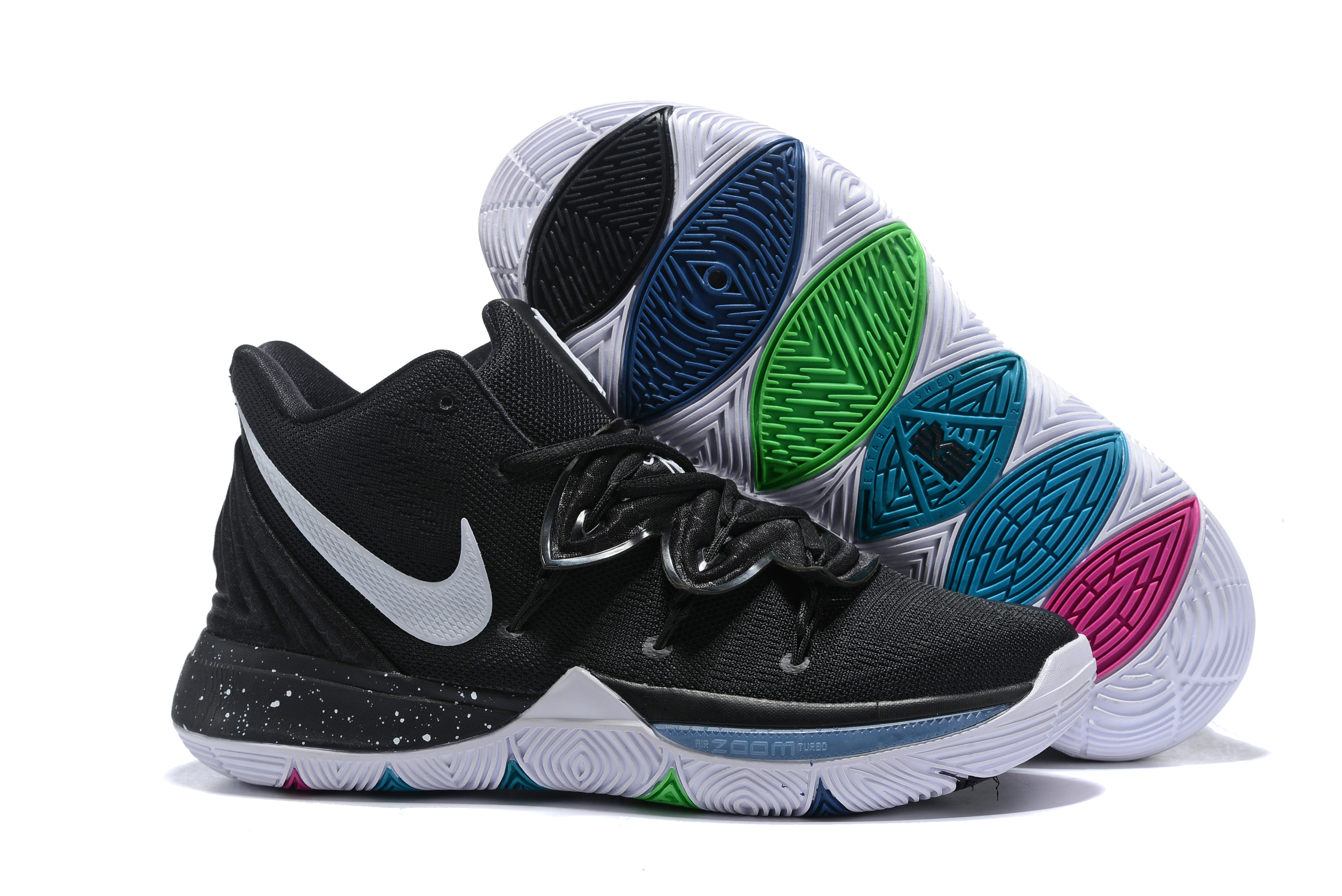 Kids Nike Kyrie 5 Black White Shoes