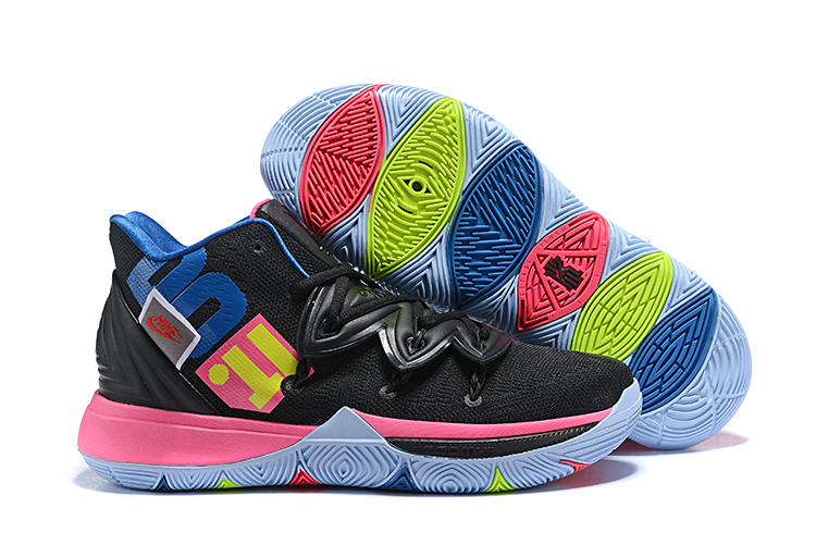 Kids Nike Kyrie 5 Black jade Blue Shoes