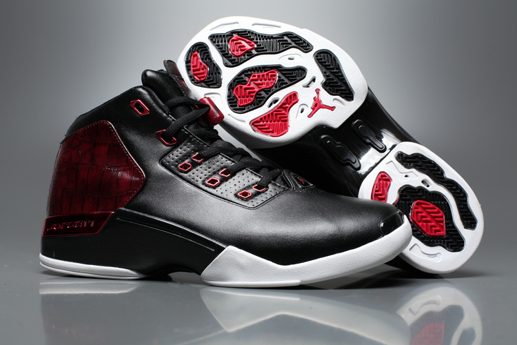 Latest Air Jordan 17+ Black Red White Shoes