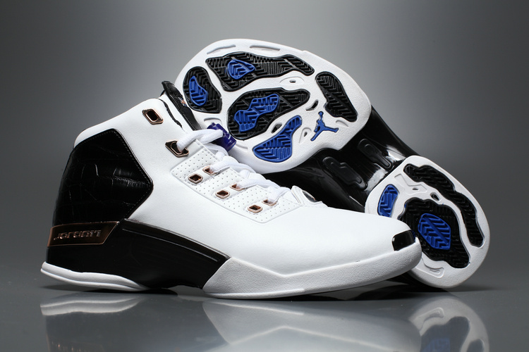 Latest Air Jordan 17+ White Black Shoes