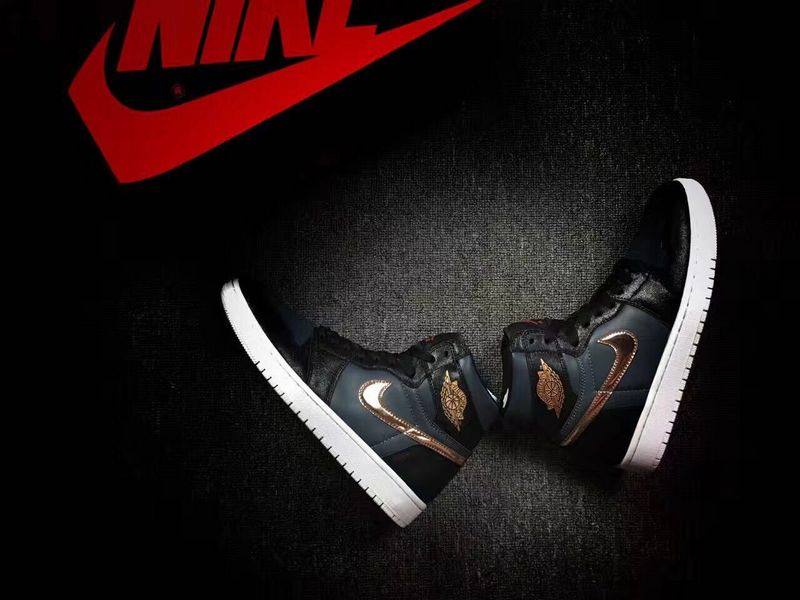 Latest Jordan 1 Bronze Medal Balack Shoes