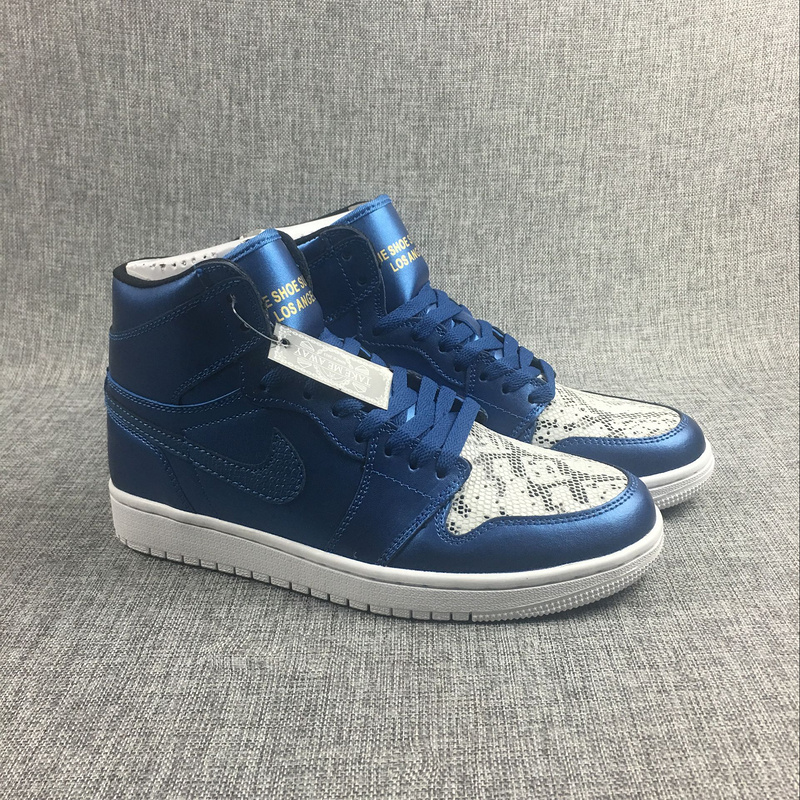 Latest Jordan 1 Retro Blue Copper White Shoes