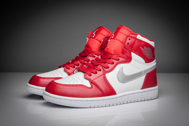 Latest Jordan 1 Retro Silver Red White Shoes