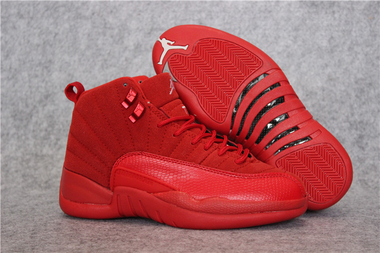 Latest Jordan 12 Retro Deer Skin Red Shoes