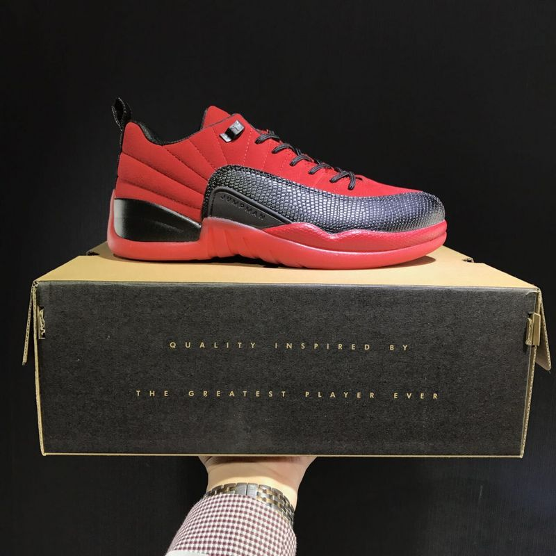 Latest Jordan 12 Retro Low Red Black Shoes