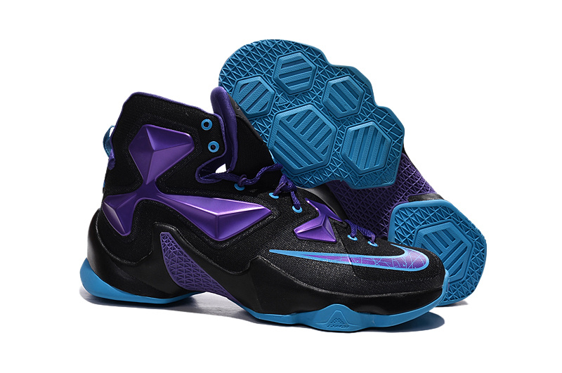 Lebron 13 Black Electric Purple Univeristy Blue 807219 508