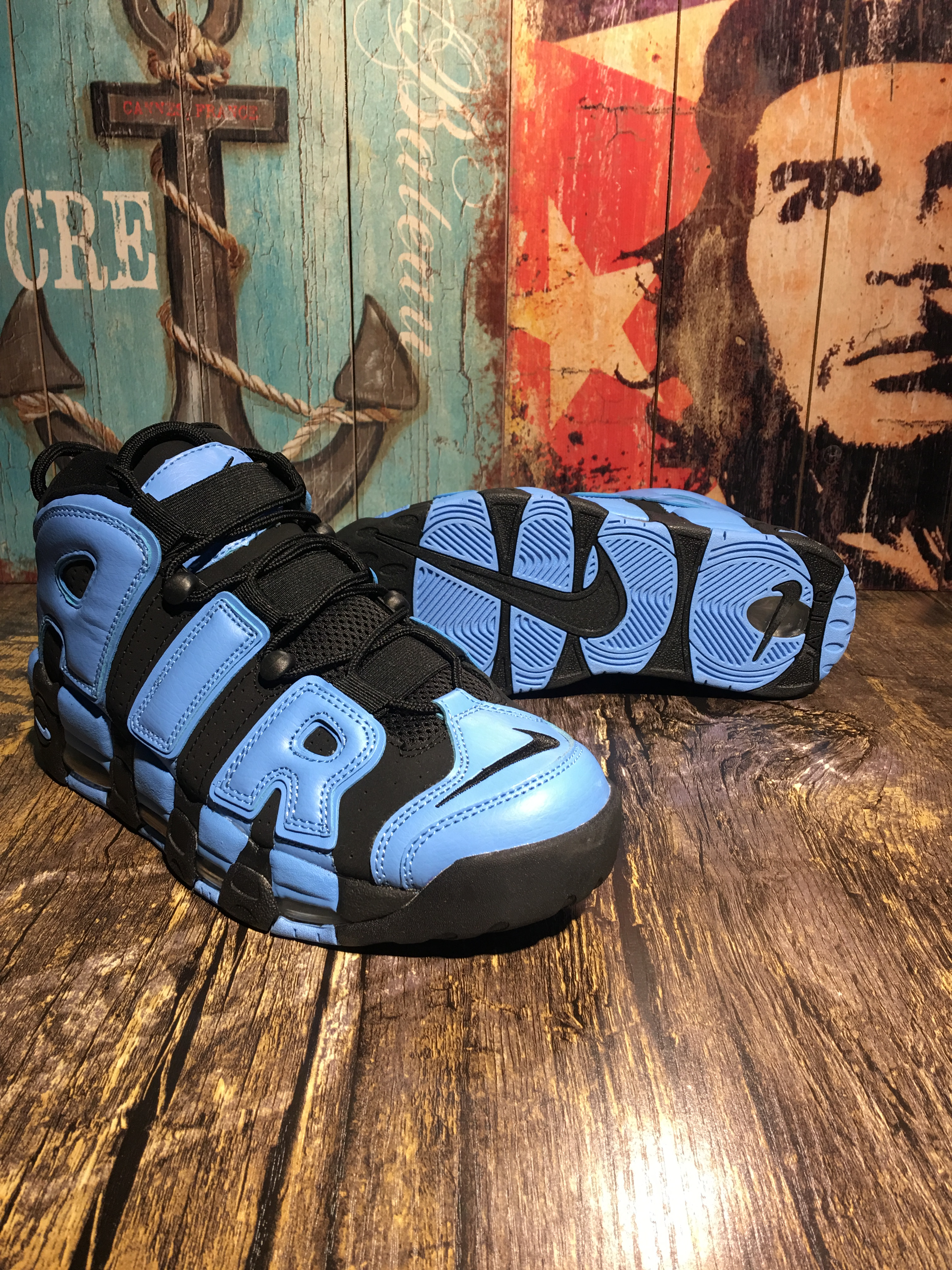 Nike Air Uptempo Black Blue Shoes