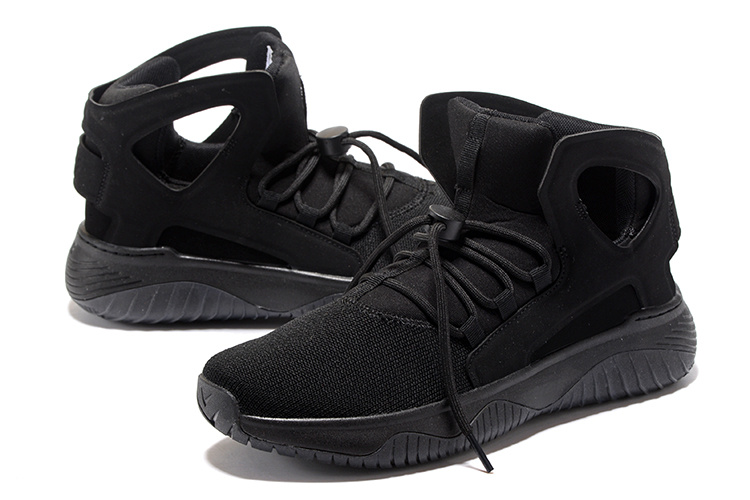 Men Nike Air Flight Huarache All Black Shoes