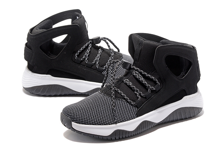Men Nike Air Flight Huarache Black Grey Shoes