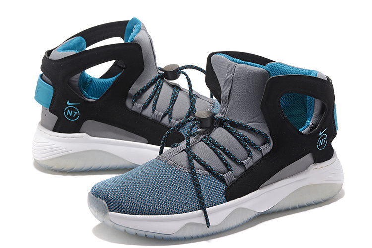 Men Nike Air Flight Huarache Grey Jade Black Shoes