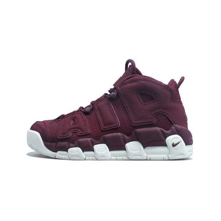 Men Nike Air More Uptempo Wine Red Shoes