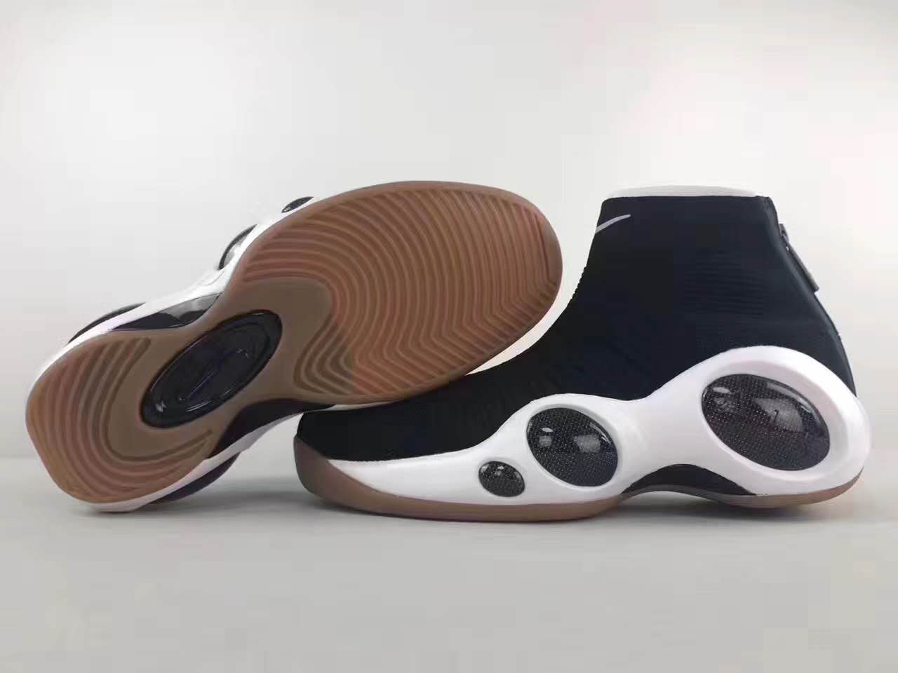 Men Nike Flight Bonafide High Black White Gum Shoes