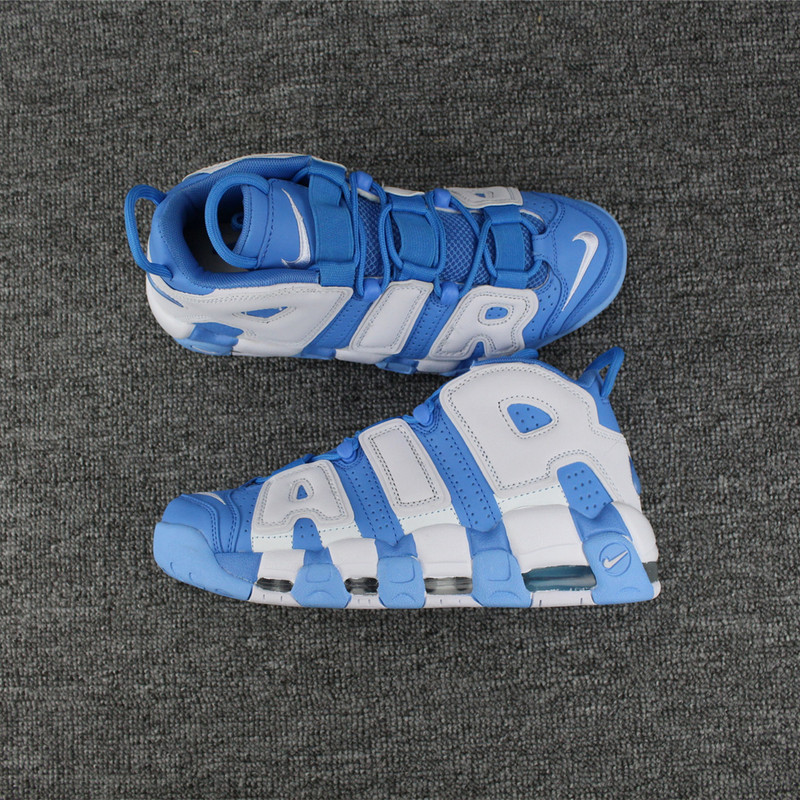 Men Nike Air More Uptempo Blue White Shoes