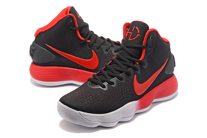 Men Nike Hyperdunk 2017 Black Red Grey Shoes