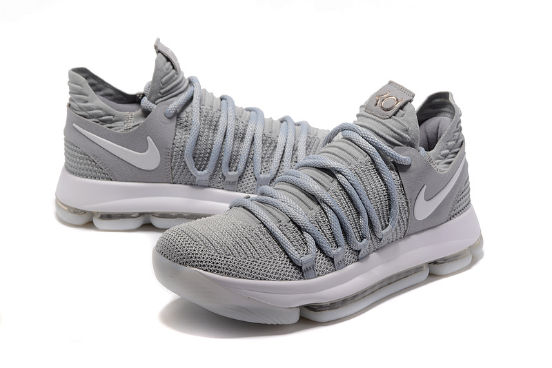 Men Nike Kevin Durant 10 Grey Shoes
