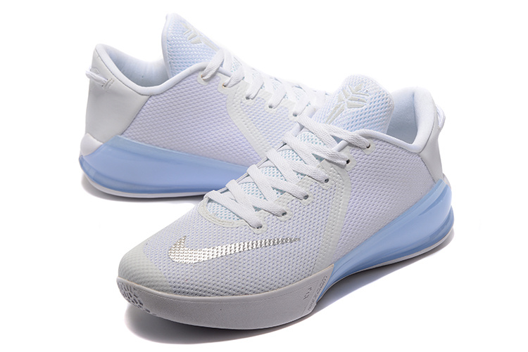 Men Nike Kobe Venomenon VI All White Baby Blue Shoes
