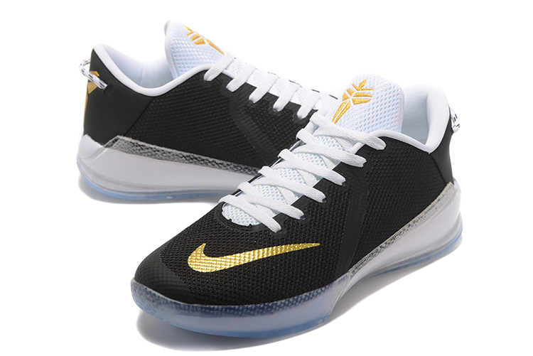 Men Nike Kobe Venomenon VI Black Gold White Shoes