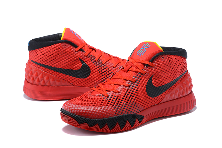 Men Nike Kyrie 1 Black Red Basketball Shoes