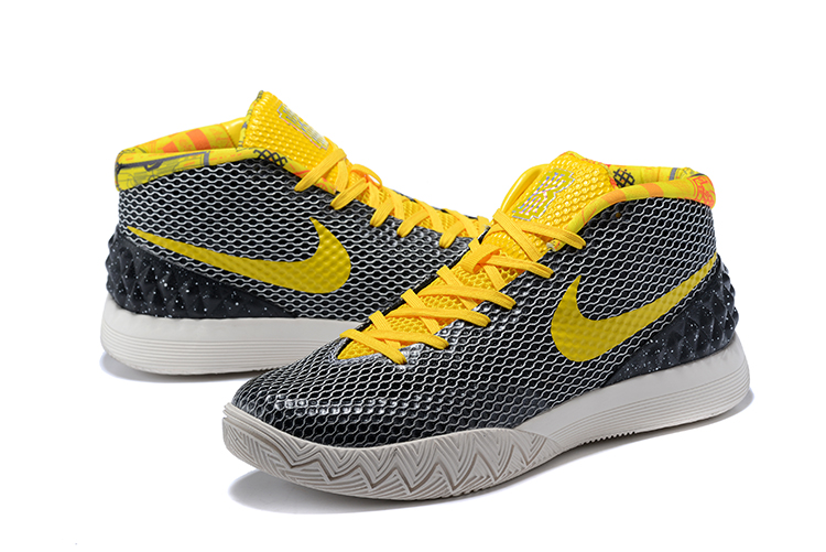 Men Nike Kyrie 1 Grey Yellow Basketball Shoes
