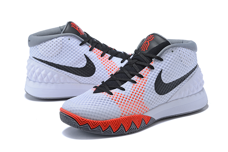 Men Nike Kyrie 1 White Grey Black Red Basketball Shoes