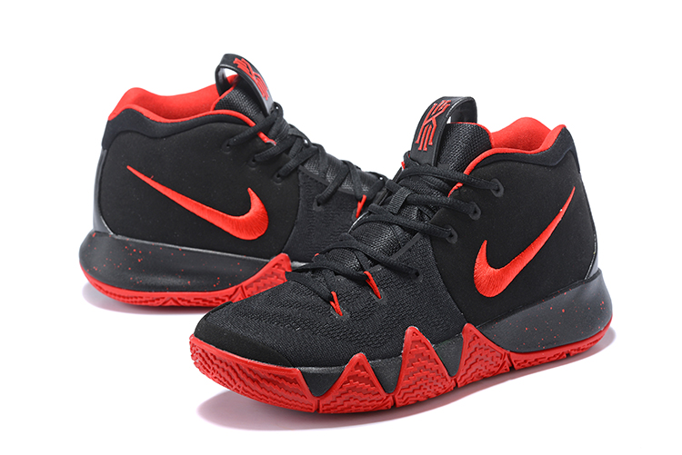 Men Nike Kyrie Irving 4 Black Red Shoes