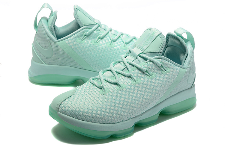 Men Nike Lebron 14 Low Gint Green Shoes