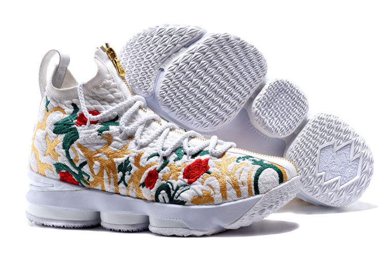 Men Nike Lebron15 Flowers Shoes
