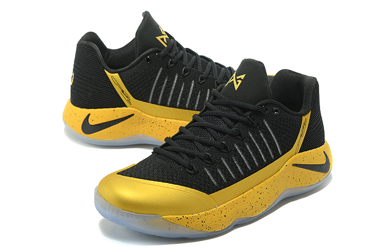 Men Nike PG 2 Black Gold Basketball Shoes