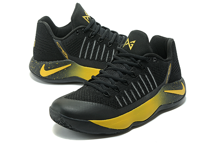 Men Nike PG 2 Black Yellow Basketball Shoes