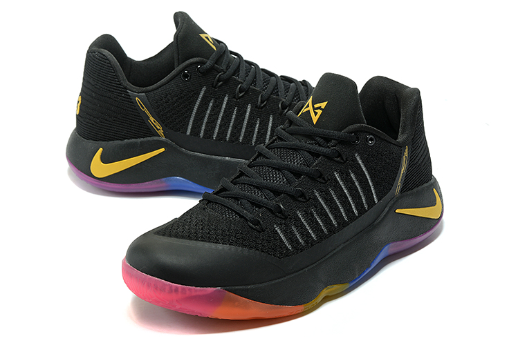 Men Nike PG 2 Black Yellow Orange Basketball Shoes