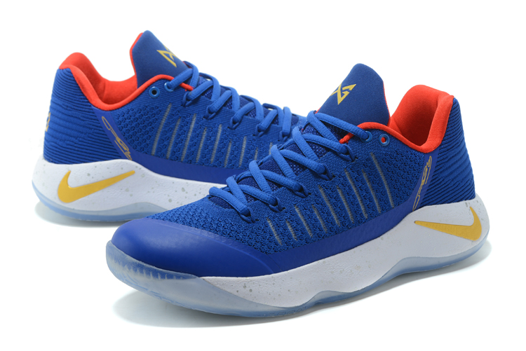 Men Nike PG 2 Blue Red Yellow Basketball Shoes