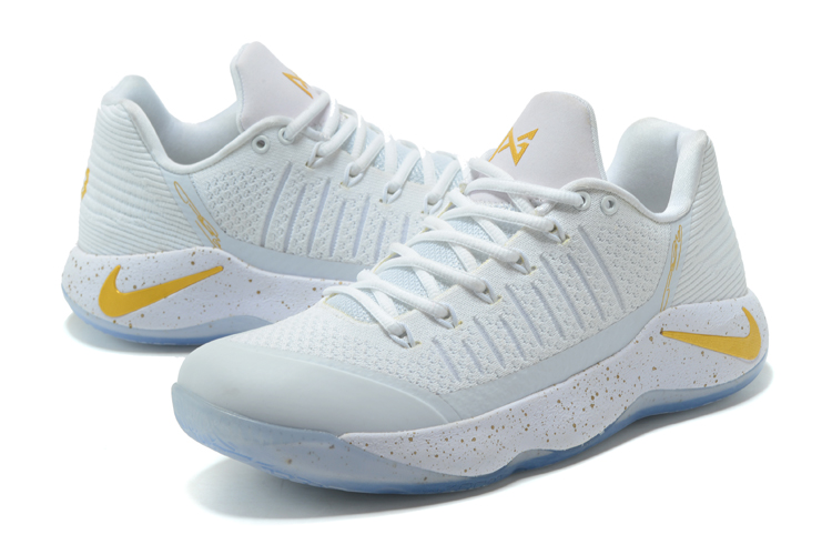 Men Nike PG 2 White Yellow Basketball Shoes