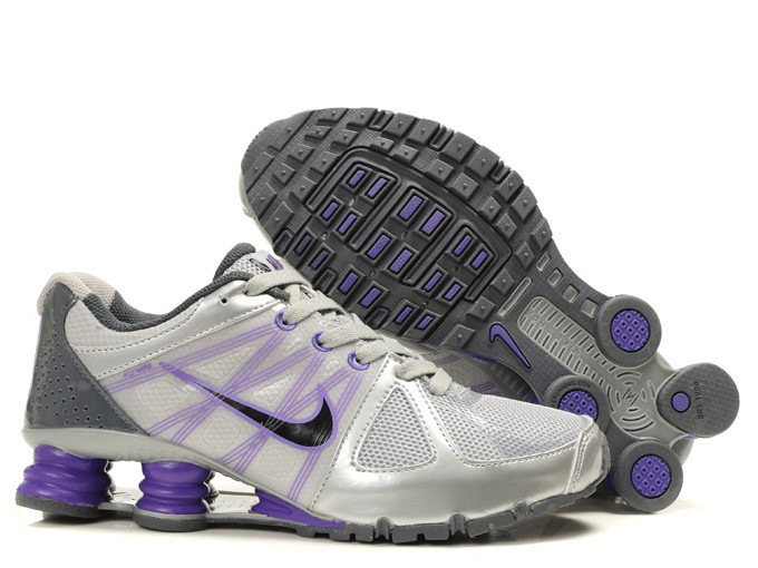 Mens Running Shoes - Nike Shox Turbo 2 Metallic Grey Purple Charcoal Grey