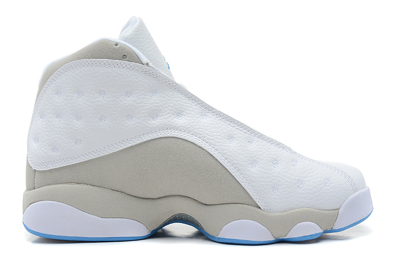 Air Jordan 13 Retro White Neutral Grey University Blue