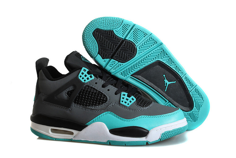 Mens Air Jordan 4 Retro Tiffany Teal Black Cement Grey