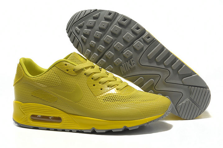 Mens Nike Air Max 90 Hyperfuse Trainers Yellow