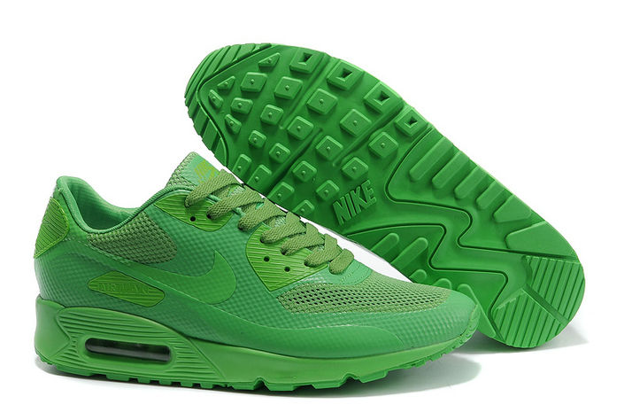Mens Nike Air Max 90 Hyperfuse Trainers Green