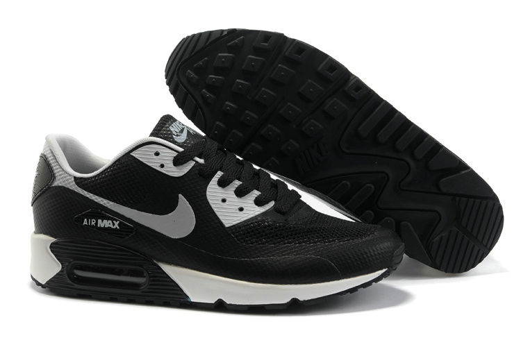 Mens Nike Air Max 90 Hyperfuse Trainers Black/White