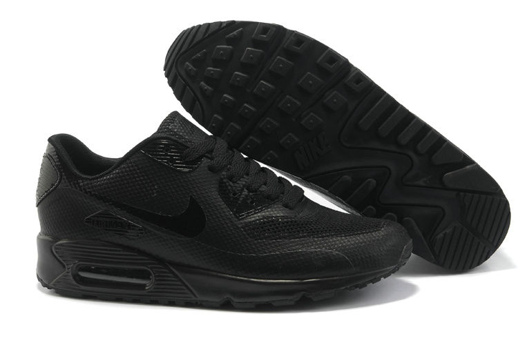 Mens Nike Air Max 90 Hyperfuse Trainers Black