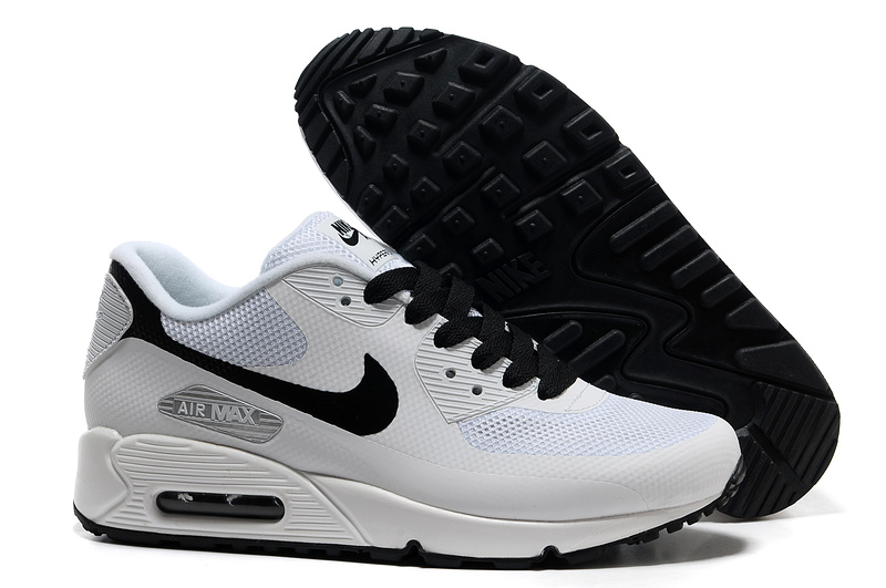 Mens Nike Air Max 90 Hyperfuse Trainers White/Black