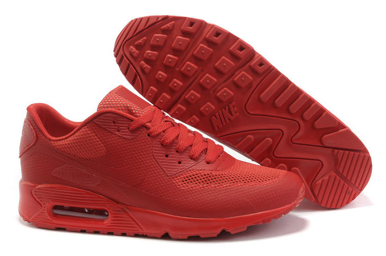 Womens Nike Air Max 90 Hyperfuse Trainers Red