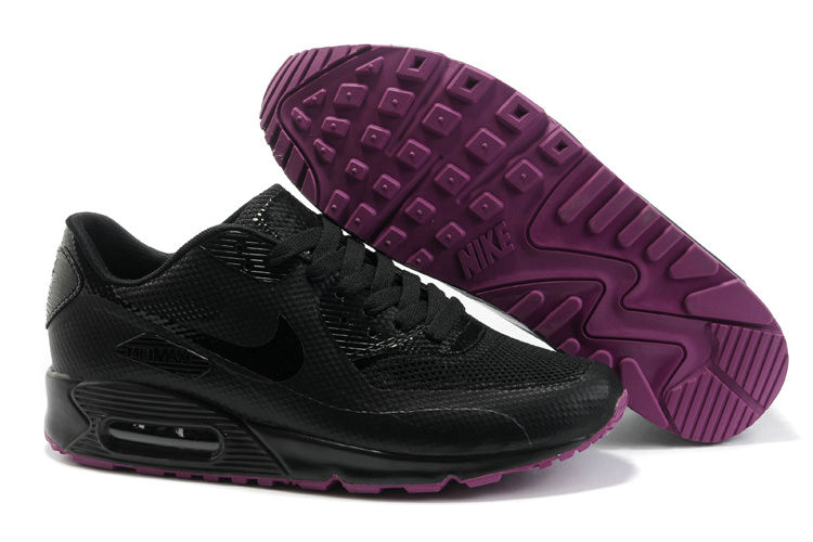 Womens Nike Air Max 90 Hyperfuse Trainers Black