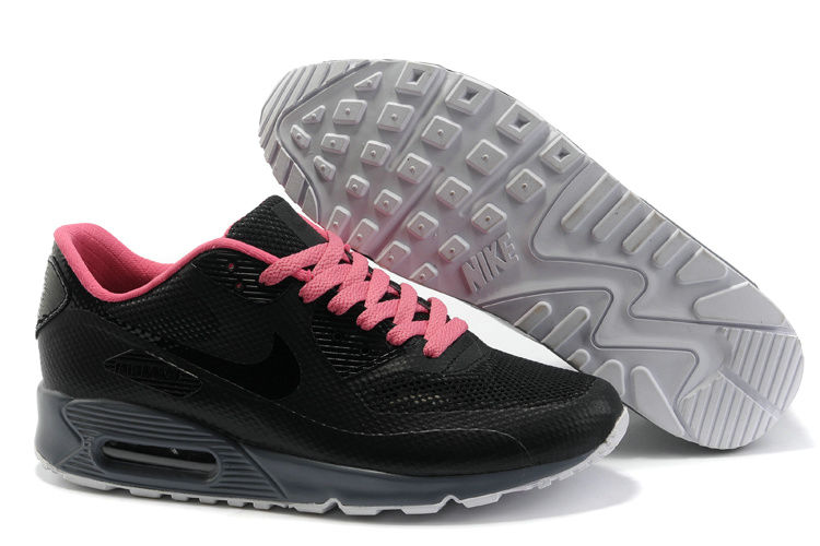 Womens Nike Air Max 90 Hyperfuse Trainers Rose/Black