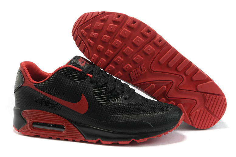 Womens Nike Air Max 90 Hyperfuse Trainers Red/Black