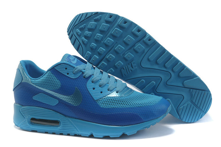 Womens Nike Air Max 90 Hyperfuse Trainers Deepblue/Blue